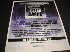 Xzibit American Cream Team Rza Raekwon 2000 Black and White Promo Poster Ad