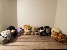 Lot of 9 Collectible Puffkins by Swibco Plush with Tags zoo collection
