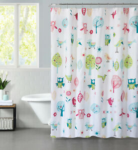 Mainstays Kids Woodland Fabric Coordinating Shower Curtain 70x72in
