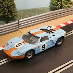Scalextric 1:32 Car - C2403 Le Mans 1966 Blue Ford GT40 #9 *LIGHTS* #WLRE