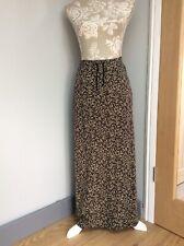 Laura Ashley Long Skirt Floral Medium Cotton Jersey Pretty Navy Blue Flower