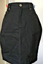 Ladies Skirt Denim/Cotton Black Sz 8 Au VGUC Katies