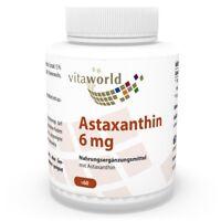 Vita World Astaxanthin 6mg 60 Vegi Kapseln Apotheken Herstellung  Antioxidant