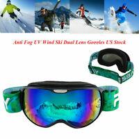 Child Ski Snowboard Dustproof Anti UV Goggles Double-layer Frame Eye Glasses