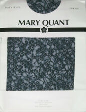 Vintage Mary Quant Ladies Tights. black grey white abstract pattern 8-12 NEW