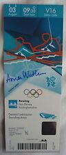 Autographed London 2012 Olympics Memorabilia Tickets/Stubs
