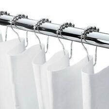 12Pieces/Set Rustproof Stainless Steel Shower Curtain Hooks Rings Bathroom L5Y3