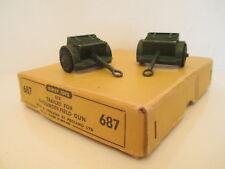 GB DINKY 687 FIELD GUN TRAILER X2 RARE TRADE BOX VERY NICE L@@K