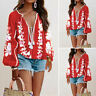 Women Loose Baggy Long Sleeve Tops Floral Casual Vintage Ethnic Blouse Shirt Tee
