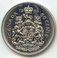 1968 Canada 50 Cents Circulated Coins Canadian Half Dollar 50c Fifty Cents. XF