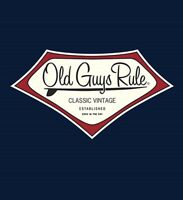 "OLD GUYS RULE LONGBOARD ""CLASSIC VINTAGE "" EST. BACK IN THE DAY SURFBOARD S/S 2X"