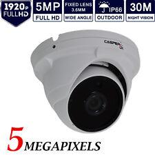 CASPERi HD CCTV Dome Camera 5MP 1920P 3.6MM 4IN1 TVI AHD CVI 30M IR Night Vision
