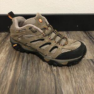 Merrell Mens Moab Ventilator Walnut J86595W Sz 10 M Brown Vibram Hiking Shoes