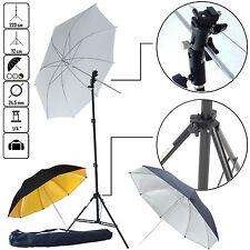 DynaSun KUT3 Kit éclairage Trépied Douille Parapluie Blanc Argent Or pour Flash