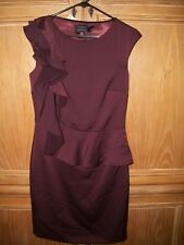 NEW TED BAKER London Shoulder Frill Dress Purple Size 1