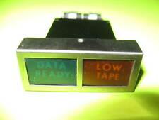 "Vintage Combination ""DATA READY"" &  ""LOW TAPE""  Indicator Light RARE !"
