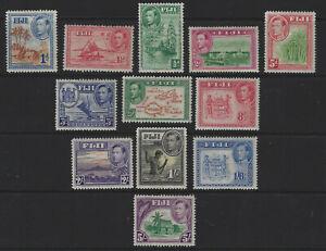 Fiji Part 1938  Set High Values to 5/-  Mint