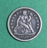1856 Seated Liberty Dime VF-XF