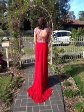Red full length Sherri Hill formal dress