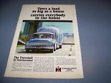 "VINTAGE..1967 INTERNATIONAL TRUCK ""CAMPER""..ORIGINAL SALES AD...RARE! (976T)"