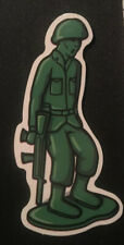 Little Green Army Man Toy Figure Sticker Decal