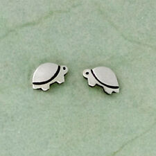 Far Fetched TINY TURTLE Post EARRINGS 925 Sterling Silver Stud - Gift Boxed