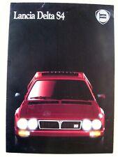Prospekt brochure Lancia Delta S4 STRADALE 1.8 250 PS Abarth 1986 Italien