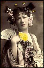 Framed print-Vintage tradizionale giapponese GEISHA (PICTURE asiatico arte orientale)