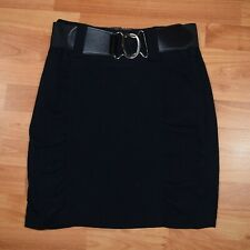 STUDIO Y MAURICES Women's Sz 5/6 Black Stretchy RUCHED Pencil SKIRT   EUC