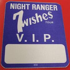 Vintage OTTO Night Ranger 7 Wishes Tour Satin Cloth Backstage Pass Dark Blue