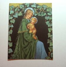 #A608 Unused Crestwick Xmas Greeting Card by Janet Kennedy  Madonna & Child