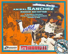 ANIBAL SANCHEZ MARLINS SIGNED RARE NO HITTER PHOTO COA