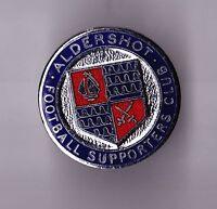 Vtg enamel football buttonhole lapel badge pin ALDERSHOT FOOTBALL SUPPORTER CLUB