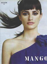 PUBLICITE ADVERTISING 2009  PENELOPE CRUZ en robe MANGO bleue