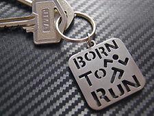 RUNNER Born To Run Athlete Sprinter Distance Track Sport Keyring Keychain Gift