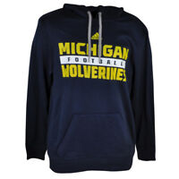 NCAA Michigan Wolverines Adidas Mens Hoodie Sweater Winter Fleece Hooded Navy