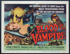 BLOOD OF THE VAMPIRE BARBARA SHELLEY HORROR 1958 TITLE CARD