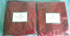 2 Pottery Barn Megan Arm chair Slipcover Cranberry Red Canvas  100% Cotton MIB