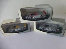 AUDI R8 Le Mans 2000 lot 3 voitures Audi Tradition Minichamps 1:43