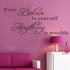 If You Believe Qoute Wall Stickers Removable Decal Interior DIY Home Art Decor