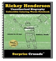 Rickey Henderson Baseball Card Sports Trading Card Notebook AUTHOR AUTOGRAPH SET