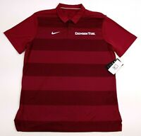 Nike Alabama Crimson Tide Polo Shirt Large Mens Red Dri-Fit New