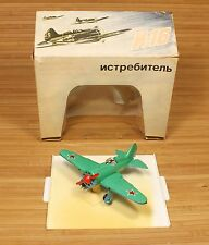 I-16 FIGHTER DIECAST SCALE 1:72 MODEL MADE IN USSR 1980's ORIGINAL BOX