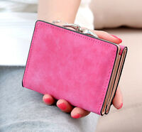 Women's Style Leather Wallet Button Clutch Lady Purse Short Handbag Bag Girl