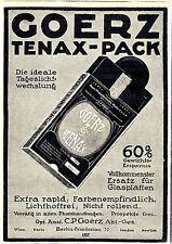 Optische Anstalt C. P. Goerz Tenax- Pack Ersatz für Glasplatten Annonce von 1913