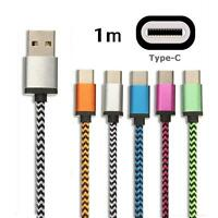 LOT 5 Rope Braided USB 3.1 TYPE C Data Sync Charger Cable SAMSUNG S8 S10 plus
