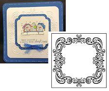 Holidays Embossing Folders CHRISTMAS SQUARE frame Nellie Snellen folder EFE004