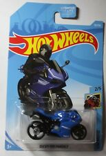 2018 Hot Wheels DUCATI 1199 PANIGALE DIECAST TOY BLUE MOTORCYCLE STREET BIKE CAR