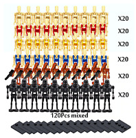 120 Star Wars Battle Droids Minifigure Lot Army For Lego Compatible USA SELLER