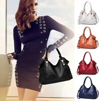 NEW Women Ladies Luxury Soft Leather Shoulder Bag Purse Tote Shopper Handbags SH